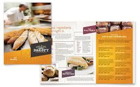 menu publisher template bakery cupcake shop menu template design