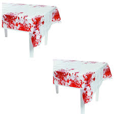 amazon com fun express zombie blood table cover party decor toys