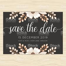 Wedding Invitation Card Samples Save The Date Wedding Invitation Card Template With Flower