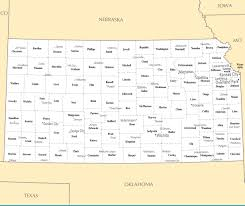 Map Of The United States With Cities Large Administrative Map Of Kansas State With Major Cities