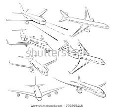 aircraft pencil sketch by hand stock vector 520459510 shutterstock