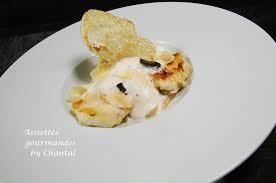 cuisiner des joues de lotte joues de lotte purée de châtaignes mousse de lait à la truffe