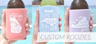 wedding koozie southern wedding favors and decorations