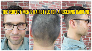 the perfect men u0027s haircut for a receding hairline youtube