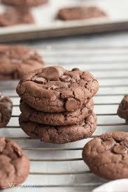 4 ingredient double chocolate cookies cake mix cookies