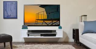 remarkable tv stand with floating concept also curves shape design
