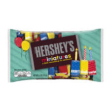 the hershey company hershey u0027s miniatures birthday with red dark