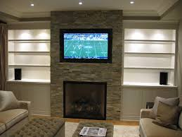 Tiled Fireplace Wall by Tv Over Fireplaces Pictures To Mount A Flat Panel Above A