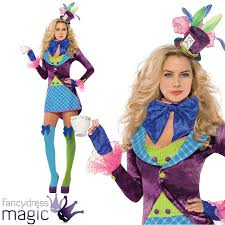 female mad hatter halloween costume womens ladies alice in wonderland mad hatter book day fancy