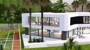 Ultra Modern Houses by The Sims 3 Ultra Modern Mansion Youtube