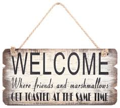 wood antique welcome sign contemporary novelty signs by