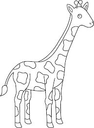 clip art giraffes coloring pages mycoloring free printable