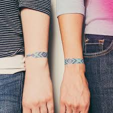tattly designy temporary tattoos u2014 friendship bracelet blue by