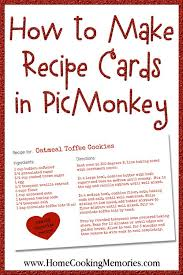 how to make recipe cards in picmonkey recipe cards how to make