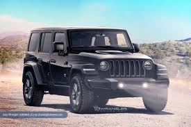 2016 black jeep wrangler unlimited 2018 jeep wrangler unlimited black front three quarters rendering