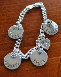 Personalized Charms 13 Best Hand Stamped Personalized Charm Bracelet Gifts Images On