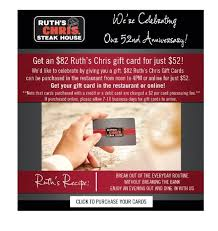ruth s chris gift cards anniversary time purchase an 82 gift ruth s chris steak