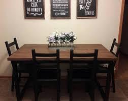 Dark Wood Kitchen Table Kitchen Table Etsy