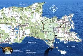 Michigan Lighthouses Map by Newberry Mi Map Jpg
