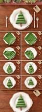 25 simple christmas decorating ideas christmas tree napkins