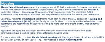 find low income housing for rhode island u0027s seniors