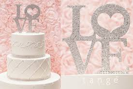 rhinestone cake metal rhinestone studded cake topper in silver or gold for