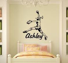 11 custom wall art decals wall art decal baseball player custom softball pitcher vinyl wall decal wall sticker home decor wall artjpg