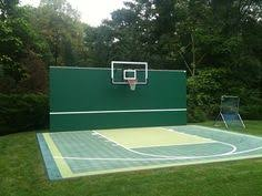 Backyard Tennis Courts Designed For Tennis Badminton Volleyball Or Table Tennis This