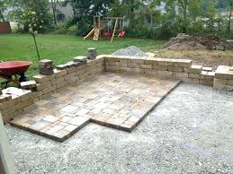 stone patio how to lay stones in backyard how to build stone patio get how to