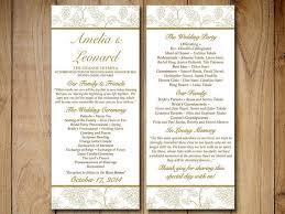 Bi Fold Wedding Program The 25 Best Diy Wedding Program Template Ideas On Pinterest