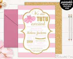 Baby Shower Card Invitations Tutu Baby Shower Invitation Template Baby Shower