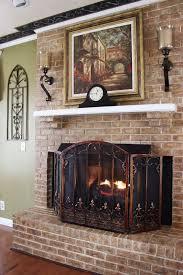 fireplace french screens tuscan screen texas star deer impressive
