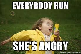 Angry Girl Meme - running away meme generator image memes at relatably com