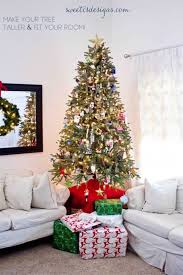 make your christmas tree taller u0026 fit better in your room