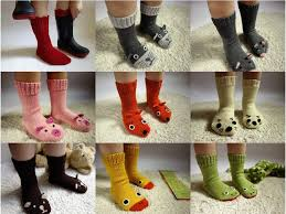 knit socks with animal faces wool socks boot socks girls