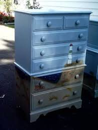 Shabby Chic Dressers by Vintage Custom Painted Shabby Chic Dresser Chest Of Drawers