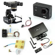diy drone diy drone fpv set with 1000mw transmitter 7 inch fpv monitor feiyu