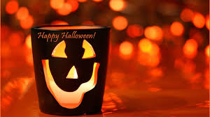 happy halloween candle hd orange wallpaper