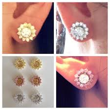 earring jackets for studs awesome pearl earring jackets for diamond studs jewellry s website