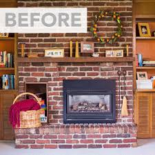How To Clean Fireplace Chimney by Whitewash A Brick Fireplace