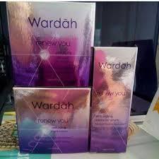 Wardah Krim Malam Dan Siang jual wardah renew you anti aging paket anti aging isi siang malam