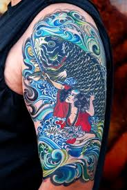 flower tattoo designs tattoo asian color fish sleeve tattoo