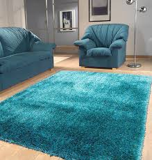 Solid Area Rugs Amazon Com Shaggy Viscose Solid Collection Turquoise Solid Area