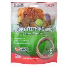 n bone puppy teething ring chicken chew treat petco