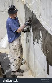 Seal Concrete Walls Basements Belgrade Serbia May 24 Basement Wall Stock Photo 243887119