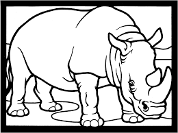 rhinoceros coloring pages getcoloringpages com