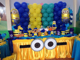 minions party ideas skirts minions goggles ideas tables decor birthday tierra