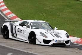 porsche 918 spyder white spy shots porsche 918 spyder wears its martini and goes
