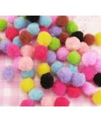 uk diy deco kawaii craft supplier 30 x colourful fluffy fuzzy
