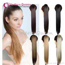 24 clip on ponytail false hair hairpiece ponytail synthetic